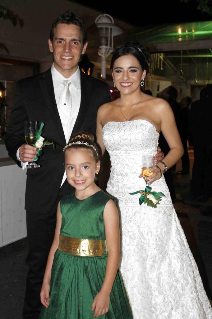 Ana Sofía Numa Ruiz, Antonine Numa, Randy Ruiz. - Nelson Díaz /GENTE DE CAÑAVERAL