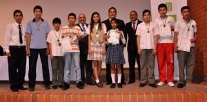 En el nivel medio de las Olimpiadas Regionales el estudiante Camilo Eduardo Arias obtuvo el primer lugar. - Imagen suministrada / GENTE DE CAÑAVERAL