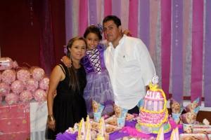 Sandra Liliana Fuentes, Mía Gabriela Pachón Fuentes, Jorge Enrique Pachón. - Nelson Díaz /GENTE DE CAÑAVERAL