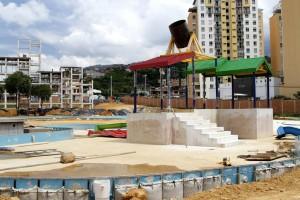 Así avanzan los trabajos en Acualago, situado en el terreno donde antes fucionaba el parque recreacional El Lago. -  Marco Valencia /GENTE DE CAÑAVERAL
