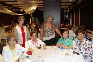 Isabel de Abril, Elvira Blanco, Alicia de Álvarez, Luz Ángela Uribe, Rosita de Bermúdez, Nubia de Casas. - Nelson Díaz /GENTE DE CAÑAVERAL
