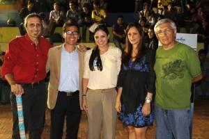 Fredy Barbosa, Raúl Bueno, Mayra Vargas, Silvia Cristina, Holger López.  - Nelson Díaz /GENTE DE CAÑAVERAL