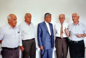 Manuel Núñez, Mario Mutis, Monseñor Néstor Navarro, Jaime Luis Gutiérrez y Álvaro Duarte Mora. - Imagen suministrada /GENTE DE CAÑAVERAL