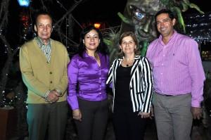 Laura Herrera /GENTE DECAÑAVERALGladys Ballesteros (Subdirectora Recursos Financieros CDMB), Adela Guerrero (Jefe Oficina de Cultura Ambiental CDMB), Pedro Santamaría y Jorge Carrera.