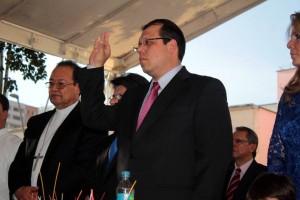 El lunes en la tarde tomó posesión como alcalde, Carlos Roberto Ávila Aguilar en un acto celebrado en el parque principal de Floridablanca. - Javier Gutiérrez / GENTE DE CAÑAVERAL