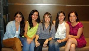 Lina Alvarado, Yorly Gómez, Gloria Bueno, Silvia Higuera y Natalia Borrero.  - Imagen suministrada /GENTE DE CAÑAVERAL