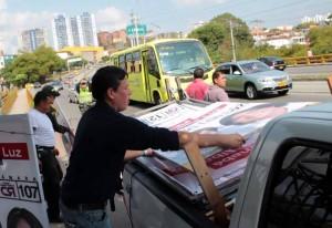 El proceso de recolección de propaganda política sigue.  - Imagen suministrada/GENTE DE CAÑAVERAL