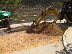 Por estos días se realizan arreglos de malla vial sobre la calle 29.  - A. L. /GENTE DE CAÑAVERAL