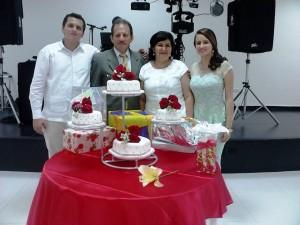 Darío José, Carmen Elisa Ríos, Manuel Darío y Silvia Nathaly.  - Suministrada/GENTE DE CAÑAVERAL