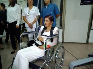 Cielo González aún se está recuperando, sin embargo ya puede hablar y caminar unos cuantos metros.  - Y. G. /GENTE DE CAÑAVERAL