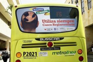 El jueves se realizó el lanzamiento de la campaña 'No te pierdas el mundial' de Metrolínea.  - César Flórez/GENTE DE CAÑAVERAL