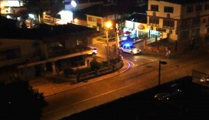 Esta imagen fue tomada de un video en el que se aprecia cuando la Policía pasa derecho frente al establecimiento.  - Suministrada/GENTE DE CAÑAVERAL