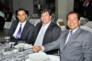 Jaime Sarmiento, Alejandro Villarraga y Javier Mantilla.