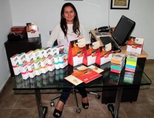 En estos momentos Patricia Elena es la gerente de obleas Floridablanca. Aunque es odontóloga tiene visión de administradora.  - Javier Gutiérrez/GENTE DE CAÑAVERAL