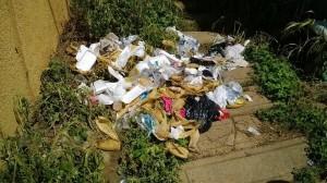 Los vendedores de ayacos dejan basura por los alrededores del El Bosque.  - Suministrada/GENTE DE CAÑAVERAL