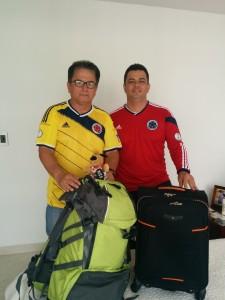 Padre e hijo emprendieron su viaje para disfrutar del mundial. Suministrada/GENTE DE CAÑAVERAL