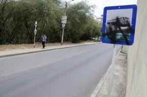 La parada es muy solitaria y el aviso ya no se ve.  - Didier Niño/GENTE DE CAÑAVERAL
