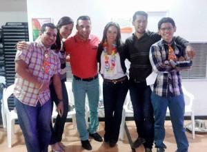 Nelson Ramírez, Karoll García, Carlos Rojas, Margarita Niño, Diego Manrique y Rafael Velasco. - Suministrada/GENTE DE CAÑAVERAL