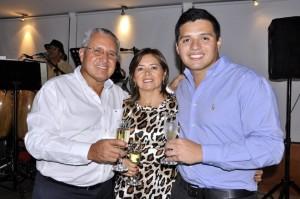 Héctor Julio Hernández Gallo, Consuelo Parra y Héctor Andrés Hernández Parra. - Laura Herrera/GENTE DE CAÑAVERAL