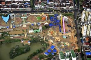 Así se ve el parque Aculago, que se construye en terrenos donde durante muchos años funcionó el parque recreacional El Lago. - Laura Herrera/GENTE DE CAÑAVERAL