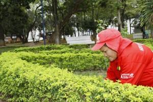 Sonia espera seguir cuidando este parque, pero sobre todo espera la colaboración de la comunidad.  - César Flórez/GENTE DE CAÑAVERAL.