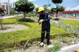 En horas de la mañana se realizaron las labores de mantenimiento.  - Javier Giutiérrez/GENTE DE CAÑAVERAL