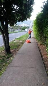 Nuestra periodista del barrio asegura que los funcionarios no limpian ciertos puntos.  - Suministrada/GENTE DE CAÑAVERAL