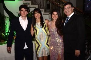 José Manuel Osma, Catalina Serrano, María Juliana Osma y José Luis Osma. - Hernando Galeano /GENTE DE CAÑAVERAL