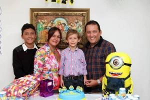 Dilan Ávila, Mónica Villar, Tomás Guillermo Ávila Villar e Iván Ávila. - Suministrada/GENTE DE CAÑAVERAL
