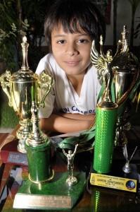 Juan David es el único hijo de Idania Ortiz y Jorge Humberto Mantilla.  - Didier Niño/GENTE DE CAÑAVERAL
