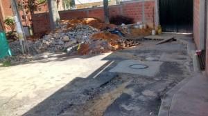 Según este habitante así están las vías tras la construcción de Acualago.  - Suministrada/GENTE DE CAÑAVERAL