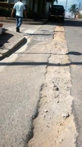 Así se ve la calle, la comunidad pide atención y solución a su queja.  - Suministrada/GENTE DE CAÑAVERAL