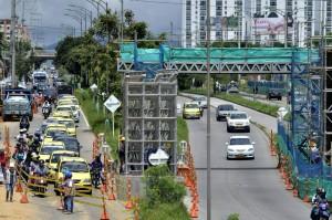 Los conductores comenzaron a quejarse por la reducción notable del carril.  - Didier Niño/GENTE DE CAÑAVERAL