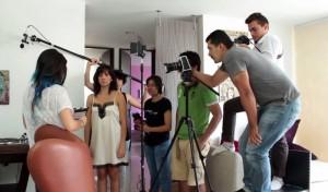 Esta es una de las imágenes del detrás de cámaras de 'Mujer en trance'. - Suministrada / GENTE DE CAÑAVERAL