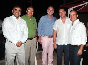 Óscar Rueda, Cándido Aguilar, Alfredo Acebedo, Sergio Velásquez y Sergio Muñoz. - Javier Gutiérrez / GENTE DE CAÑAVERAL
