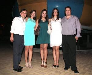 Luis Carlos Biffi, Juliana García, Juliana Ortiz, Laura Mariño y Rafael Ardila. - Javier Gutiérrez / GENTE DE CAÑAVERAL