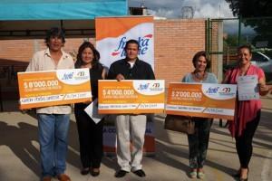 Estos son lo representantes de los sectores que ganaron premio por ser los que más reciclan.  - Suministrada / GENTE DE CAÑAVERAL
