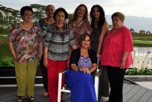 Eugenia Prada, Yolanda Jasbon, Marina de Castillo, Nancy Jasbon,  Katy, Nidia Infante, Bety Cote de Gamboa.  - Suministrada /GENTE DE CAÑAVERAL