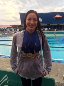 Fue elegida la mejor nadadora del país en su categoría, en el último Campeonato Nacional de Natación que se realizó en Pereira, en diciembre del año pasado.