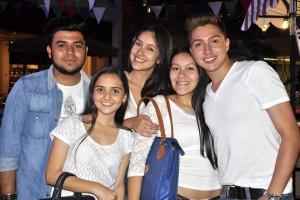 Luis Bernal, Daniela Pinto, Angie Rincón, Yakan Reyes y Andrés Jaimes.  - Laura Herrera/GENTE DE CAÑAVERAL