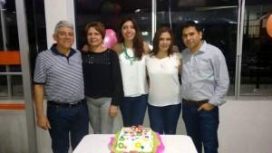 Hermes Redondo, Rosmary Calvete, Dayana Cely, Silvia Juliana Cely y Ramón Carreño.  - Suministrada/GENTE DE CAÑAVERAL