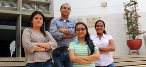 El equipo estuvo conformado por Jéssica Tatiana Camacho Rodríguez, Silvia Helena Mendoza Martínez, María Fernanda López Jaimes y el profesor Jaime Sarmiento Suárez. - Suministrada/GENTE DE CAÑAVERAL