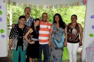 Adela Méndez, Carlos Meneses, Luisa Meneses, Jairo Meneses, Jéssica Pineda y Estela Serrato. - Suministrada/GENTE DE CAÑAVERAL