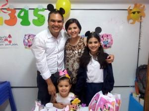 Jorge Barbosa,  Luciana Barbosa, Viviana Rangel y Valeria Barbosa. - Suministrada/GENTE DE CAÑAVERAL