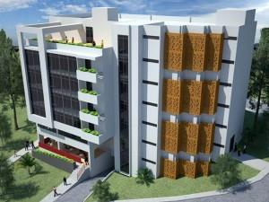 El nuevo edificio contará con 5 pisos en los que habrá aulas de clase, oficinas administrativas y cafetería, entre otros. - Suministrada/GENTE DE CAÑAVERAL