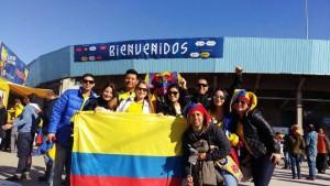 Algunos amigos de Diana residentes en Argentina viajaron a Chile para ver los partidos de Colombia juntos. - Suministrada / GENTE DE CAÑAVERAL