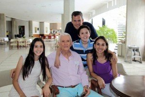 Mariana Rodríguez Pico, Emilio Rodríguez Hoyos, Emilio Rodríguez Pico, Emilio Rodríguez Rincón y Claudia Forero Ramírez. - Fabián Hernández/GENTE DE CAÑAVERAL