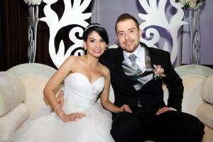 Los novios Diana Contreras y Álvaro Ortiz. - Didier Niño/GENTE DE CAÑAVERAL