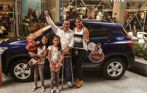 La familia Garzón fue la ganadora del vehiculo.  - Suministrada/GENTE DE CAÑAVERAL