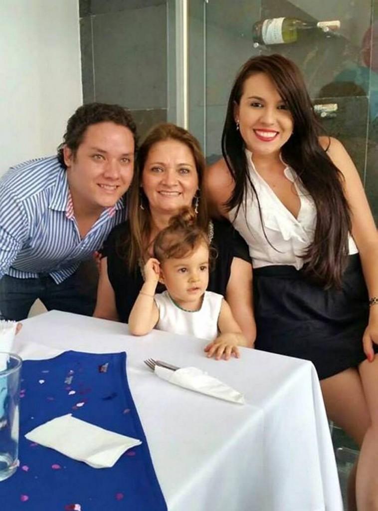 Sebastián Acuña, Alicia Ardila, Lucianna Acuña y Daniela Pasachoa.  - Suministrada/GENTE DE CAÑAVERAL